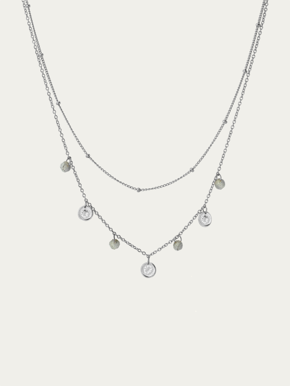 MONEDITAS silver necklace