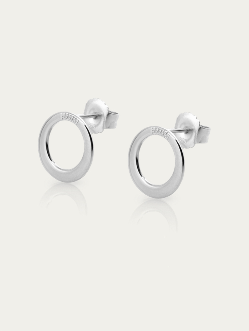 CIRCLE stud Silver earrings