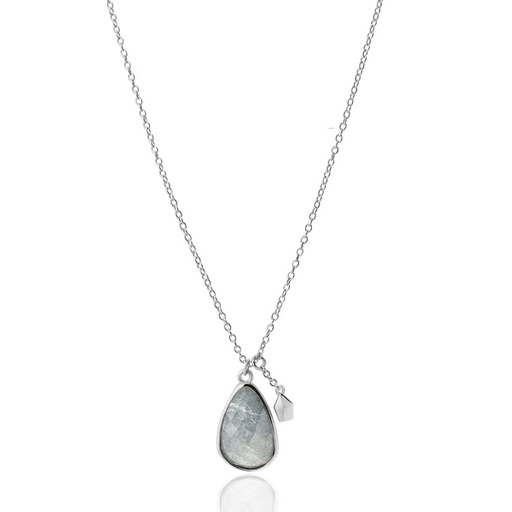 LABRADORITE STONE silver necklace