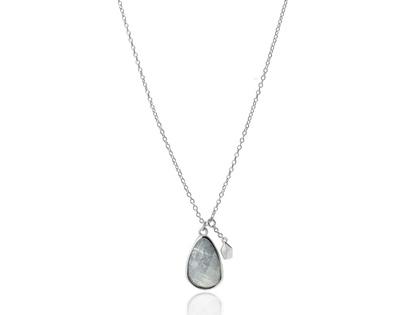 LABRADORITE STONE silver necklace