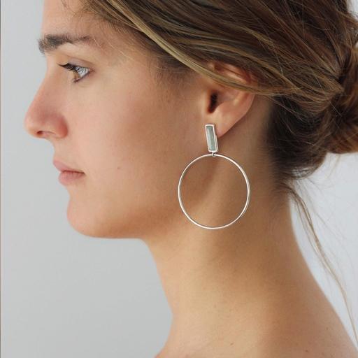 Boucles d'oreilles ARTILES argent