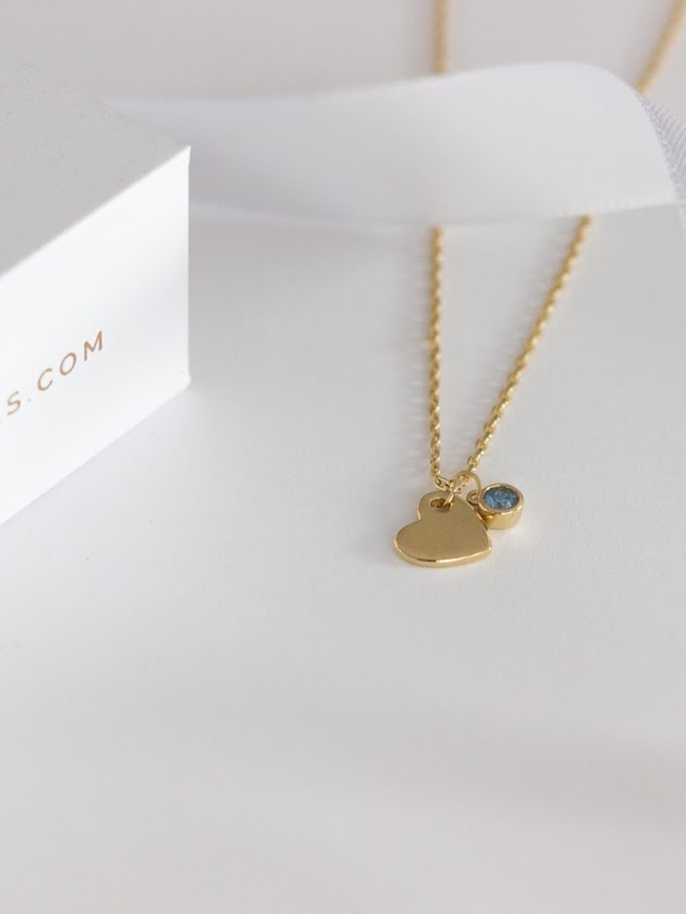 Collier BLUE HEART or