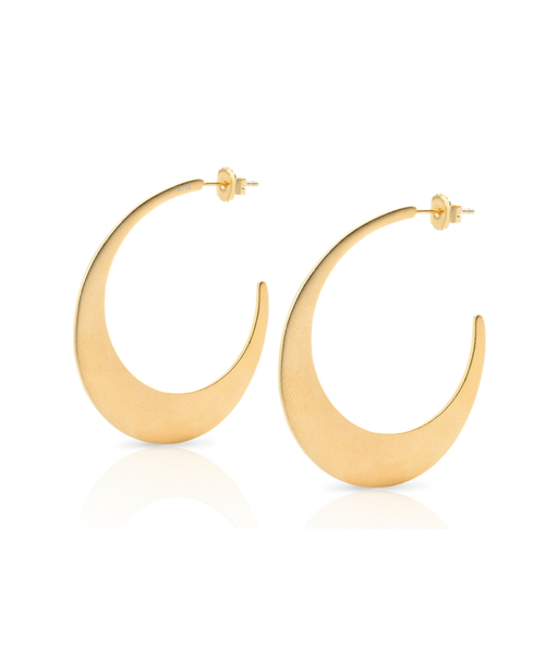 MOON gold earrings