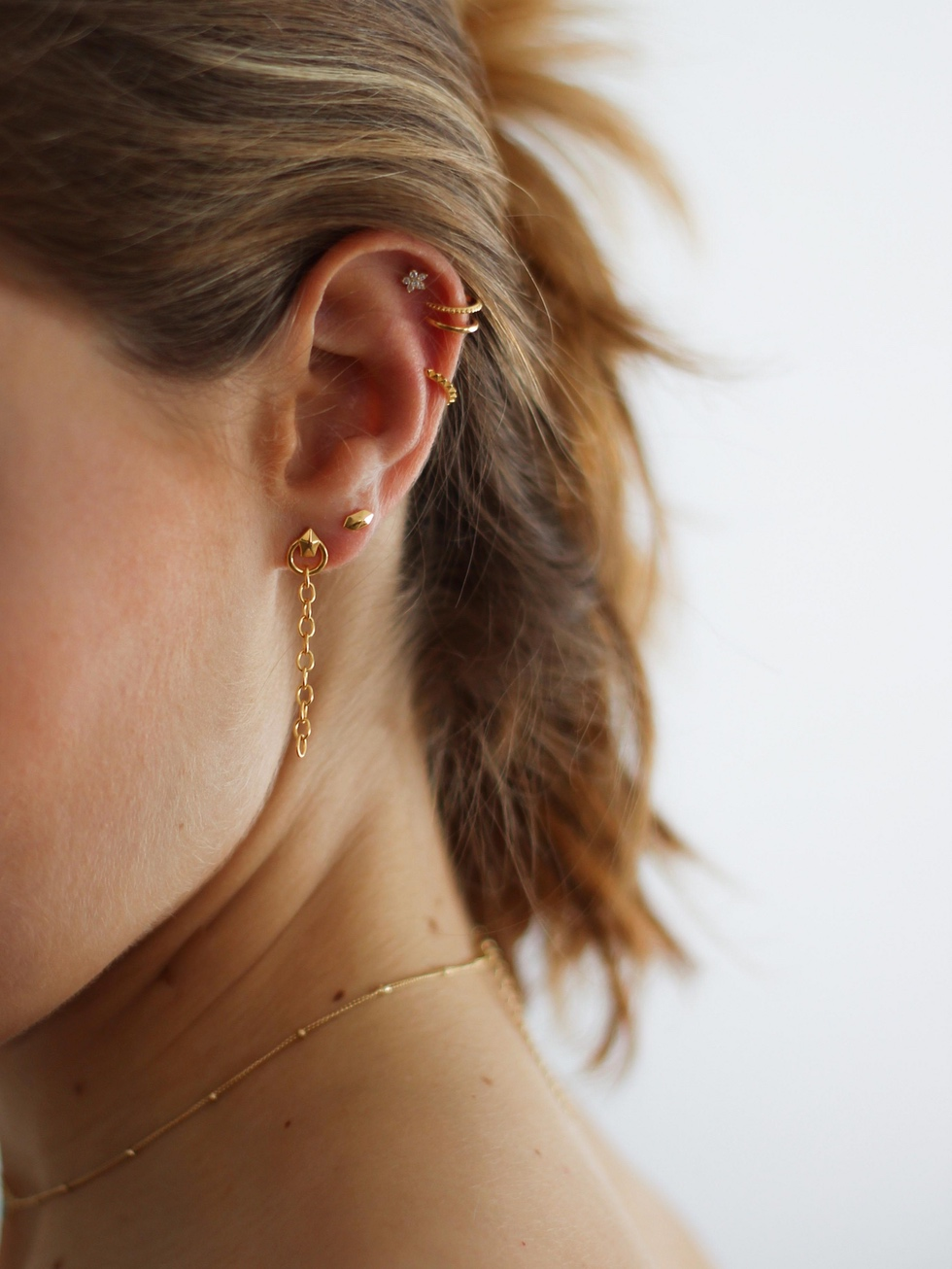 BROOKLYN gold earrings