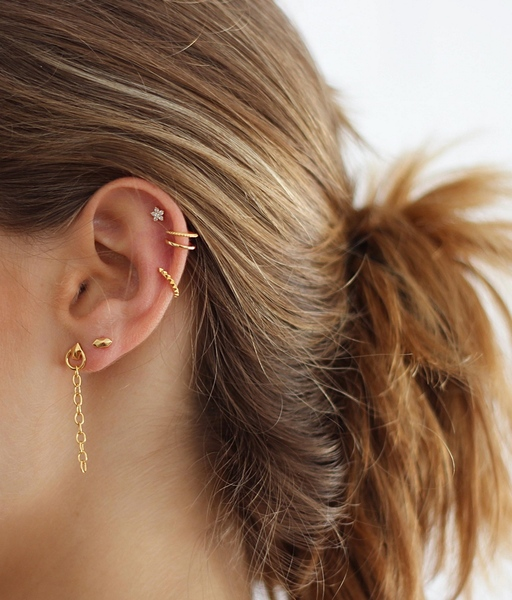Arracada EAR CUFF PYRAMID or