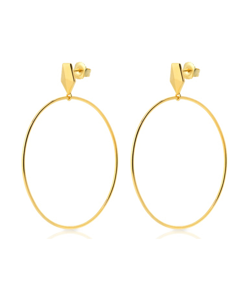 PAULA gold earrings