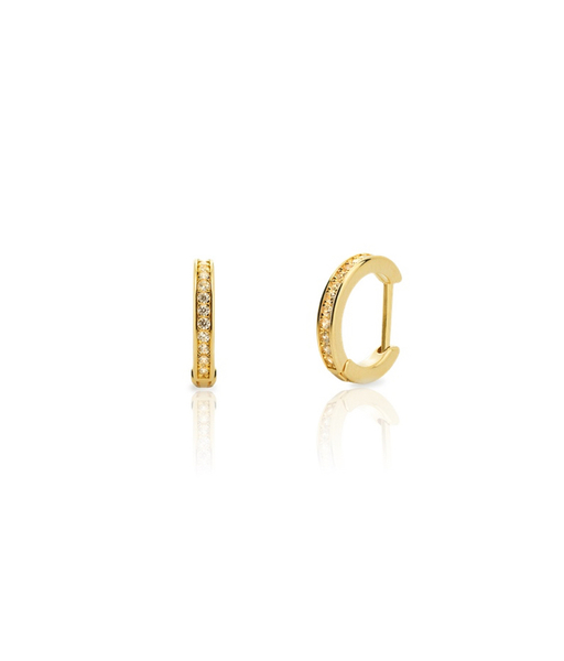 LITTLE gold HOOPS CZ