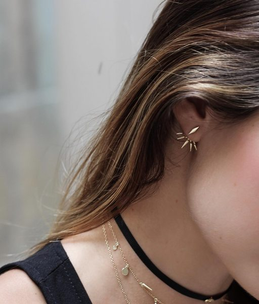 EAR JACKET gold earrings