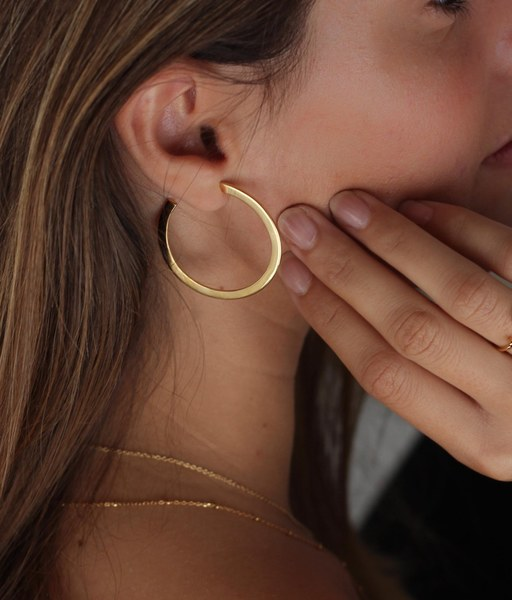BIG gold earrings
