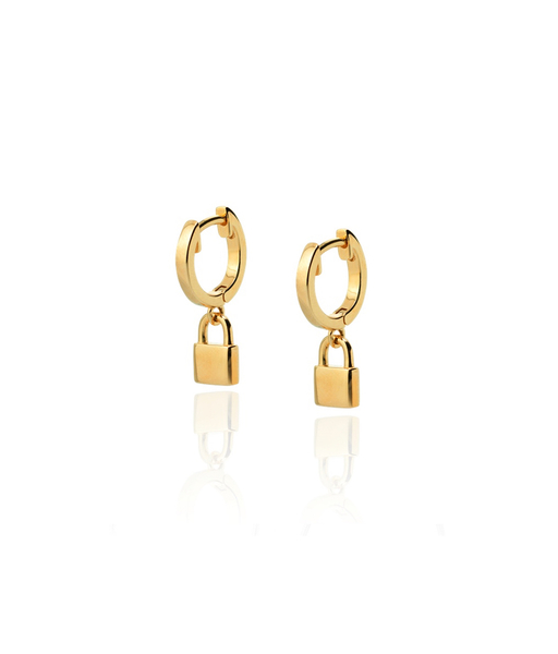 LOCK gold earrings