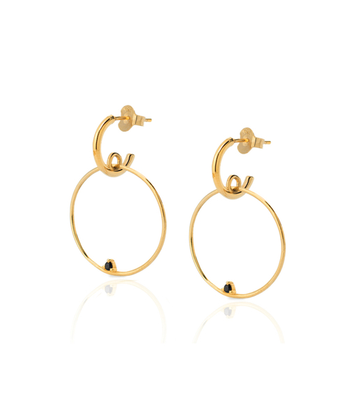 LACED HOOPS gold earrings