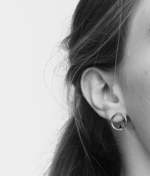 Silver NUIT earrings