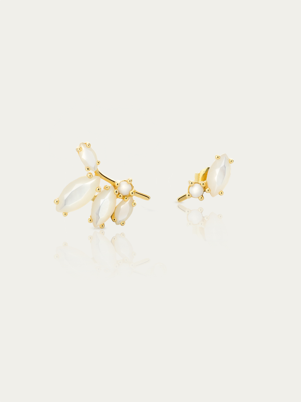 Boucles d'oreilles ISABEL white or