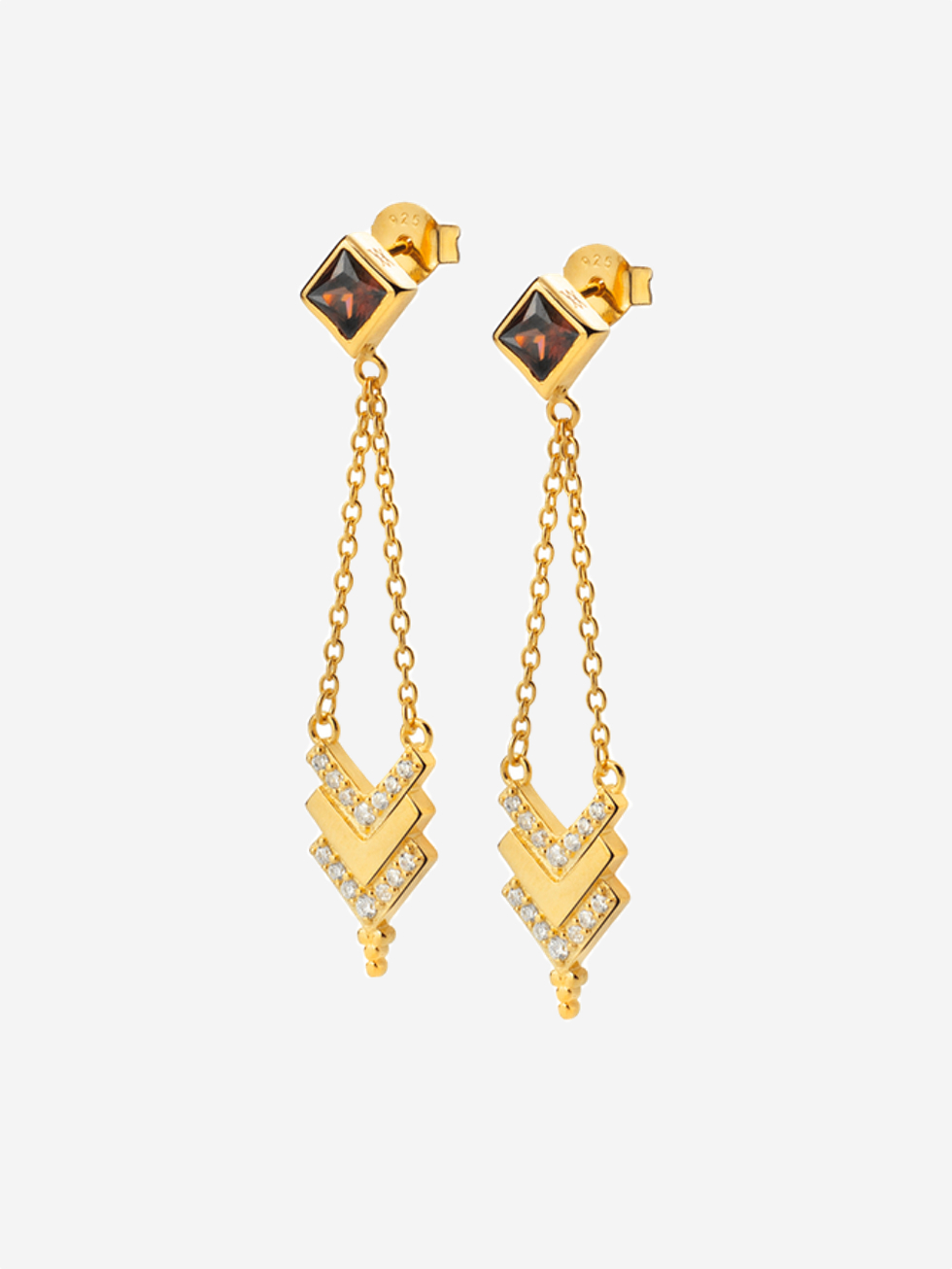 Pendientes tribe gold