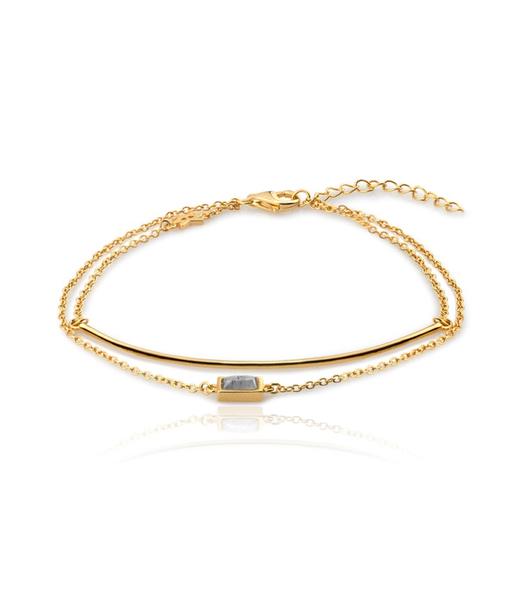 LINE&STONE gold bracelet