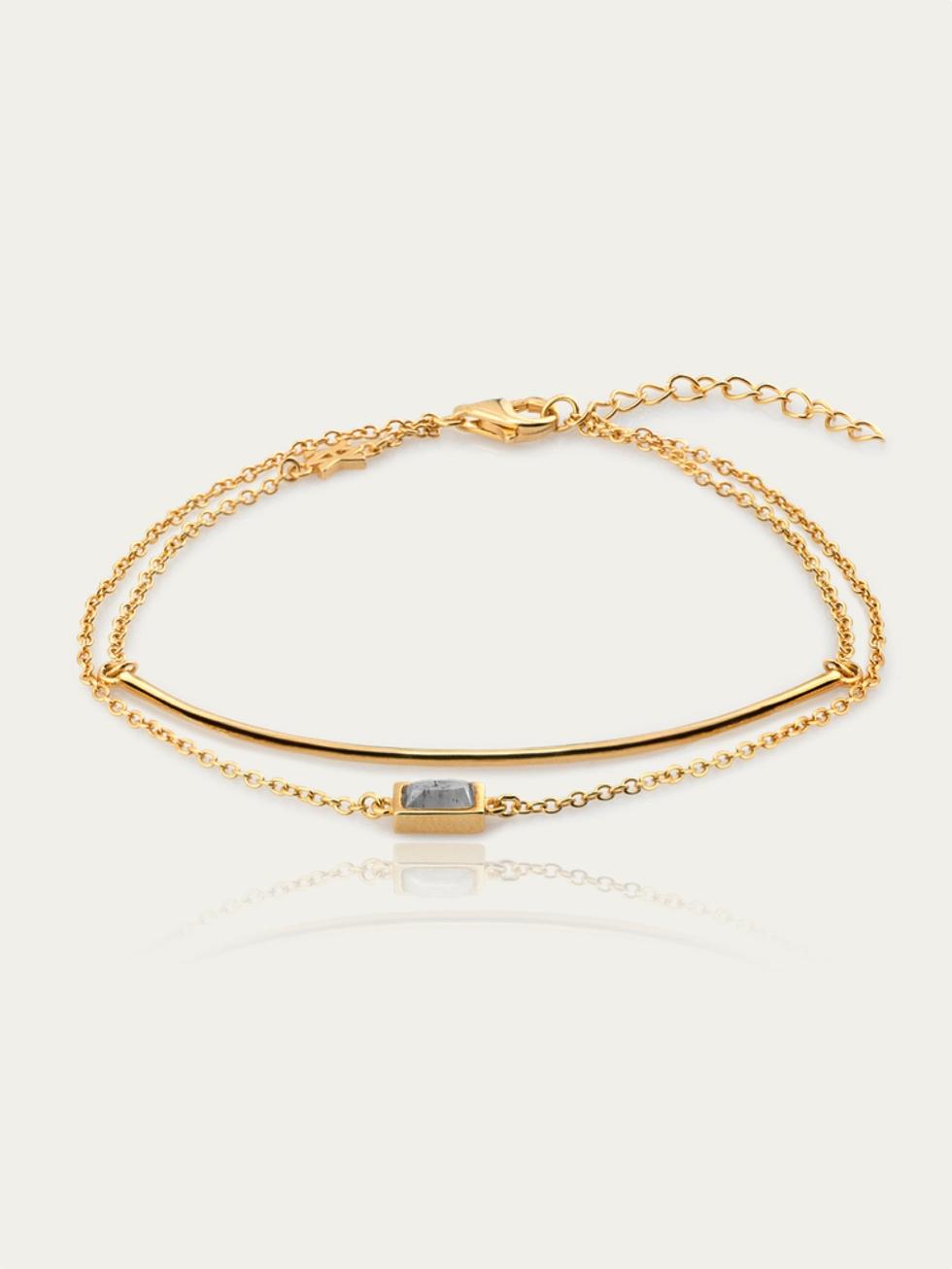 Pulsera line stone gold2