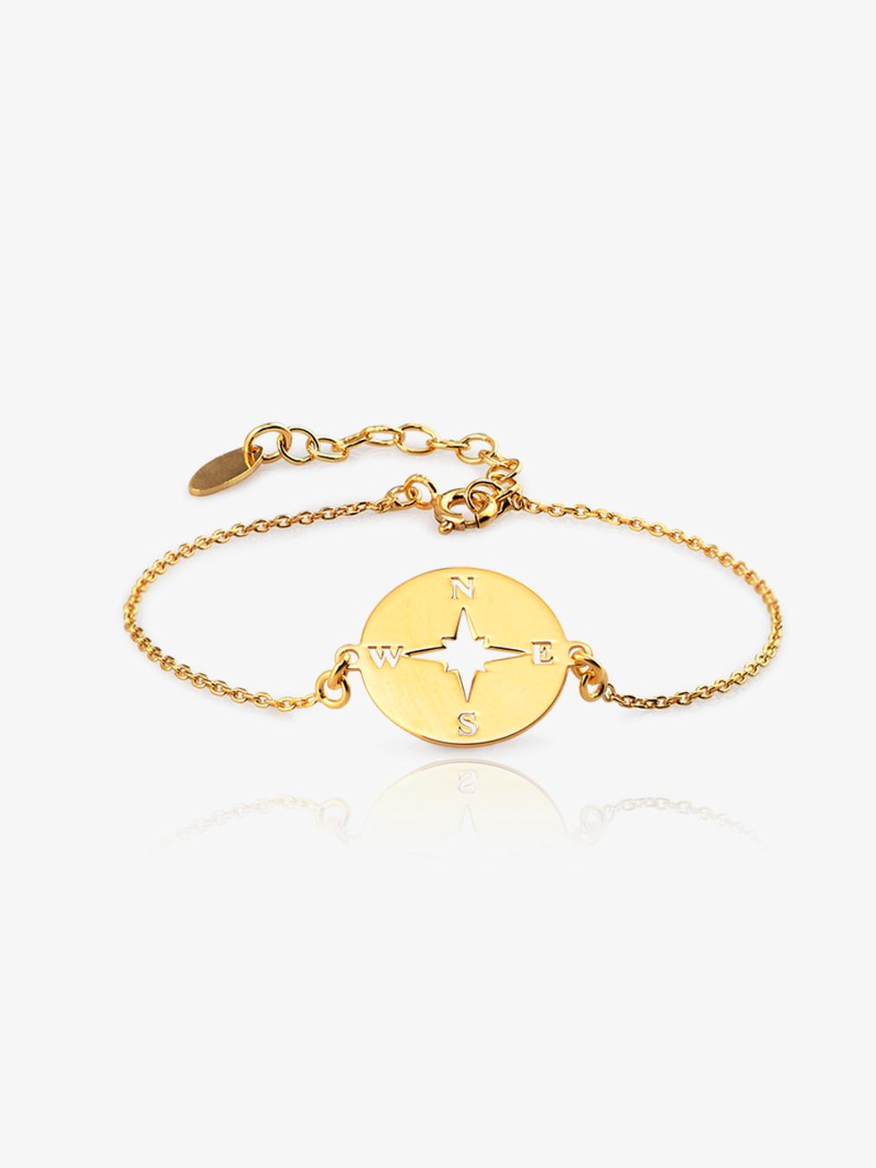 Rosadelviento bracelet gold2