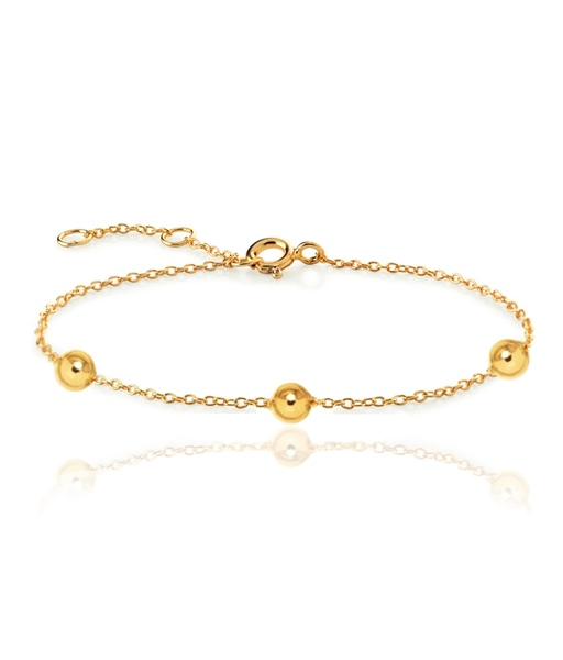 THREE BALLS gold bracelet