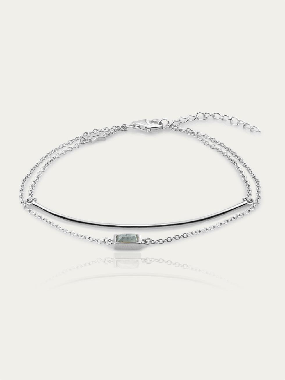 Pulsera line stone silver2