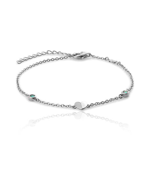 BLUE HEART silver bracelet