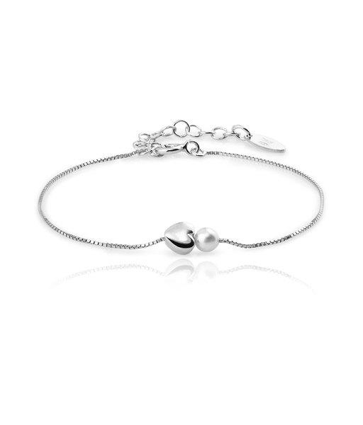 PERLA CORAZON silver bracelet