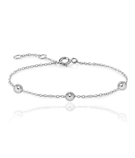 THREE BALLS silver bracelet
