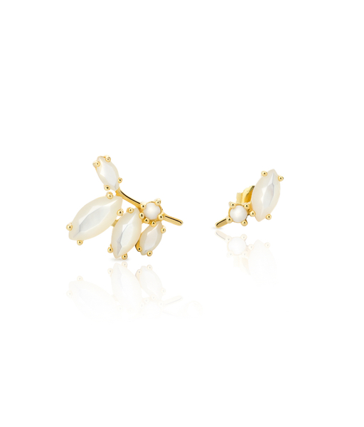 ISABEL white gold earrings