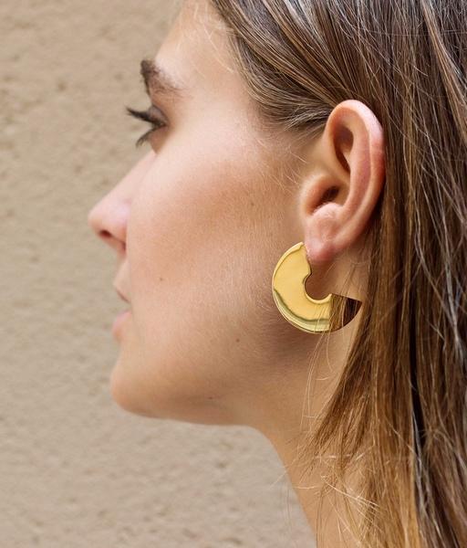 Boucles d'oreilles FLAT DISC or