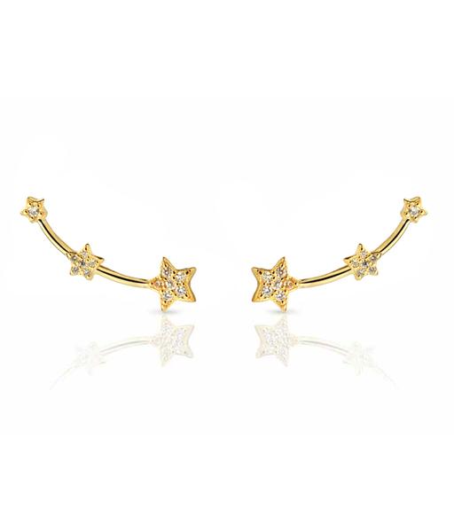 STELLA CZ gold earrings