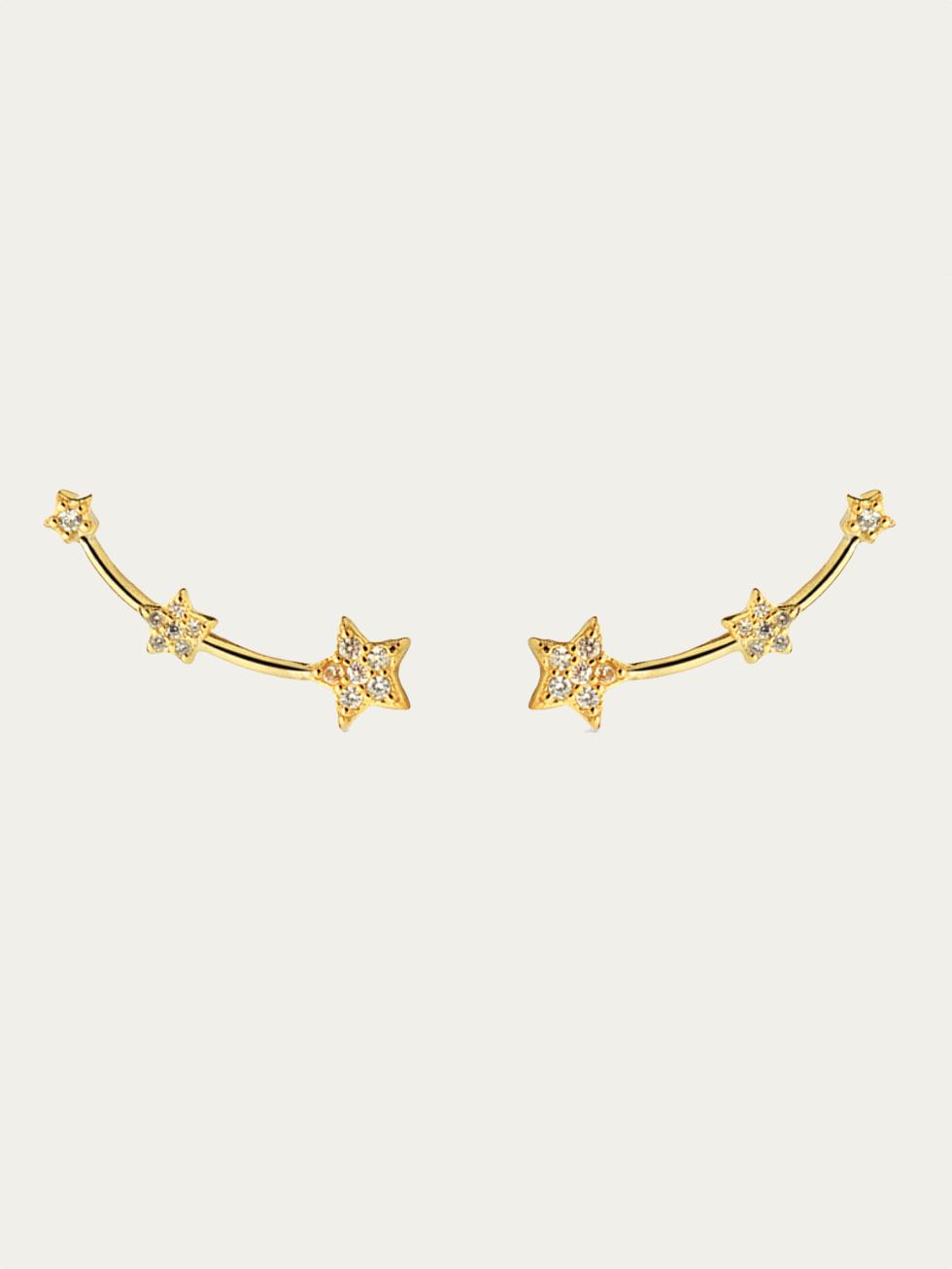 Pendientes stella oro2