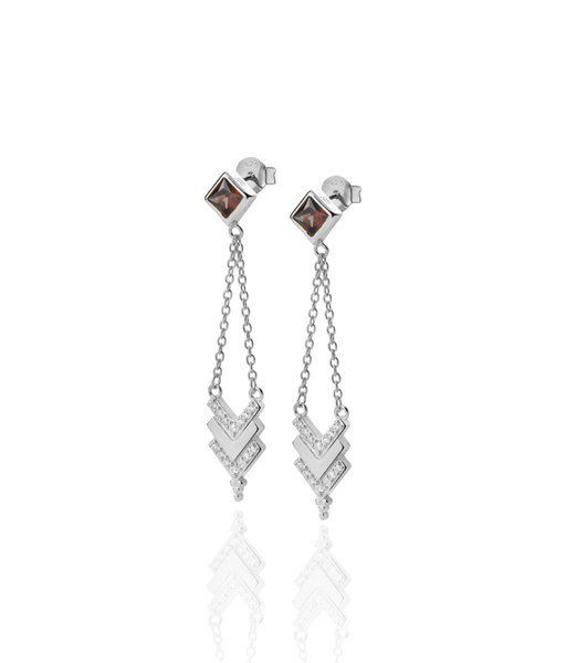 Tribet silver earrings