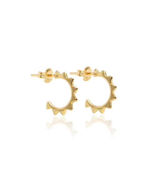 BRAVE CURVE gold earrings