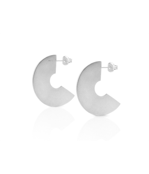 FLAT DISC silver earrings
