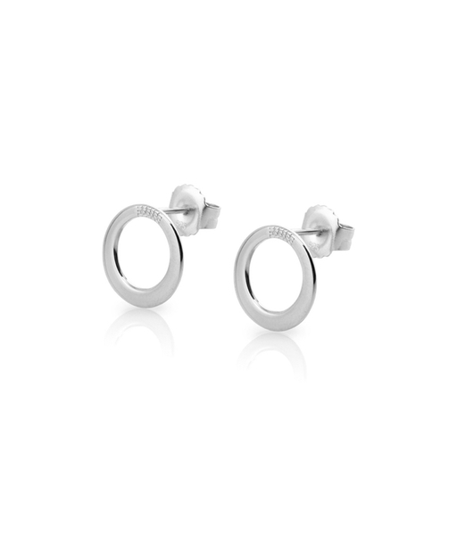 CIRCLE stud Silverearrings
