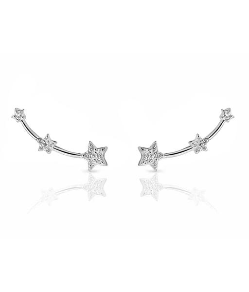 STELLA CZ silver earrings