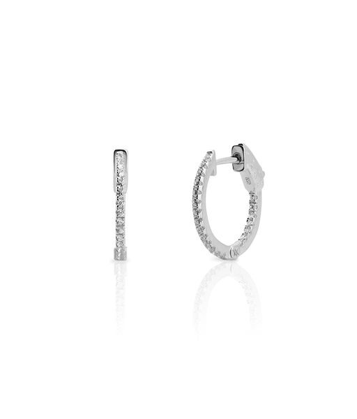 Silver hoops earrings SUPREM