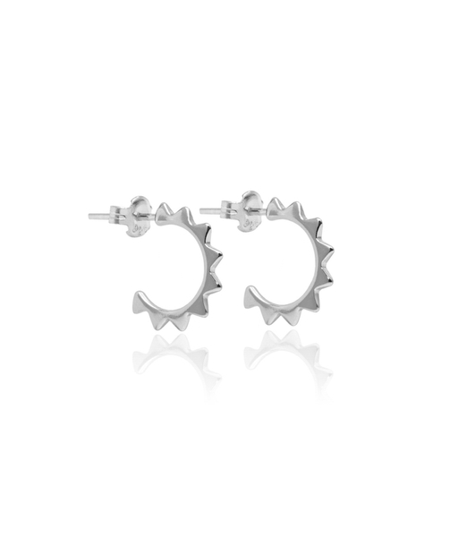BRAVE CURVE silver earrings