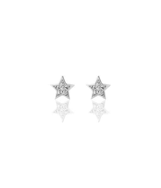 Boucles d'oreilles Star CZ argent