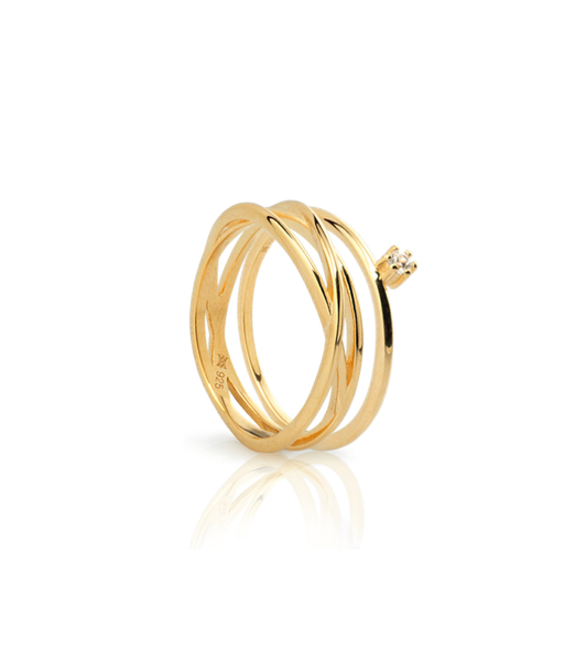 NIDO gold ring