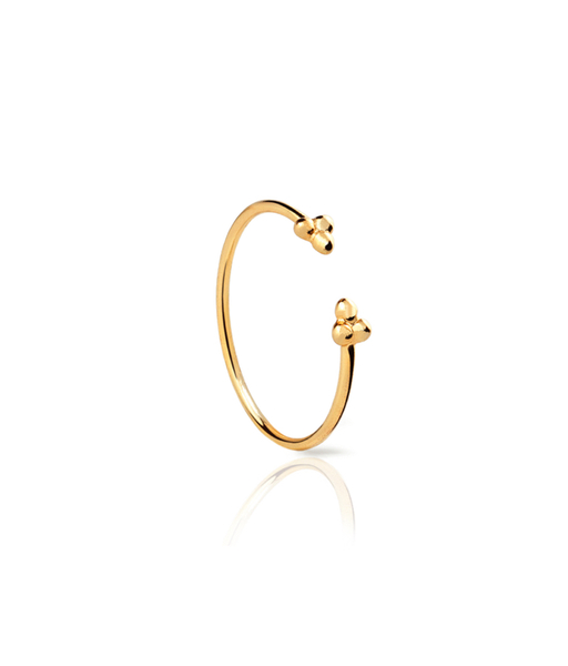 Three ball gold ring