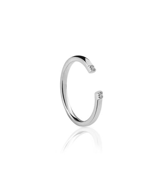 EXT CZ silver ring