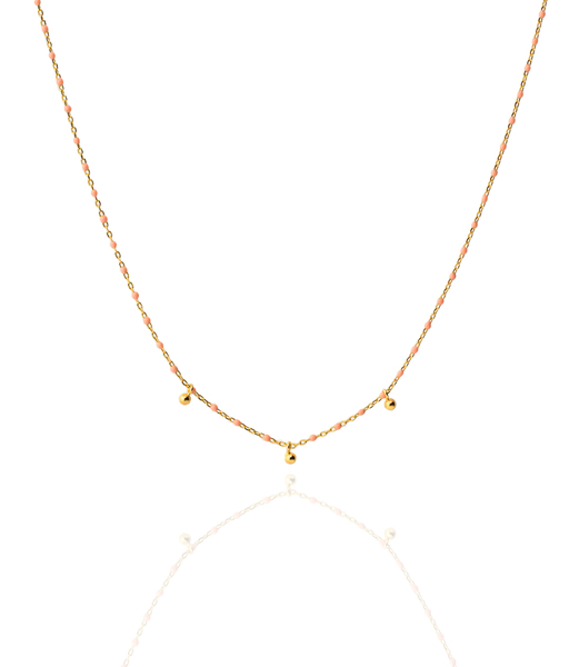 Gold necklace CORAL