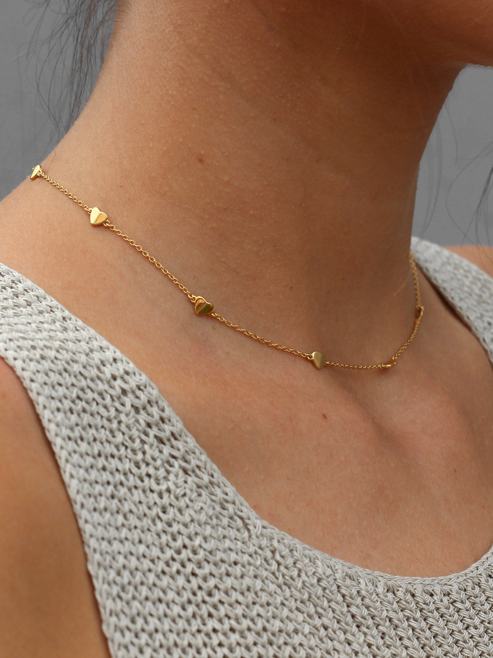 CORAZONES gold necklace