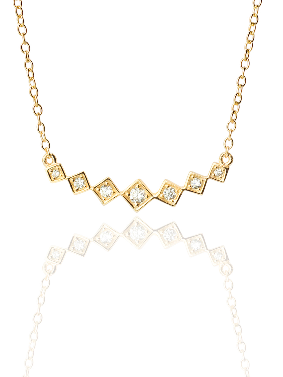 Collar rhomboid gold2