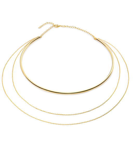 Collar TUBE oro