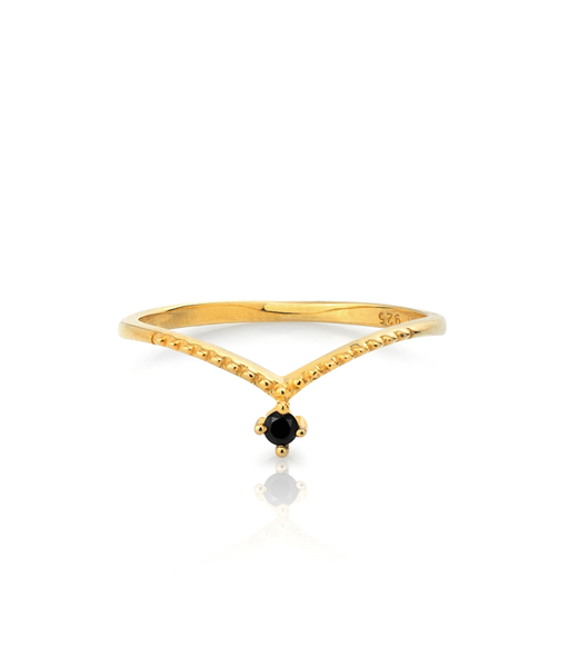 LACE CZ gold ring