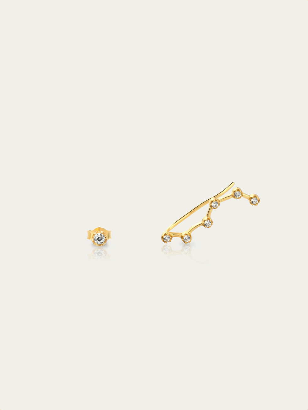 CONSTELATION gold earrings