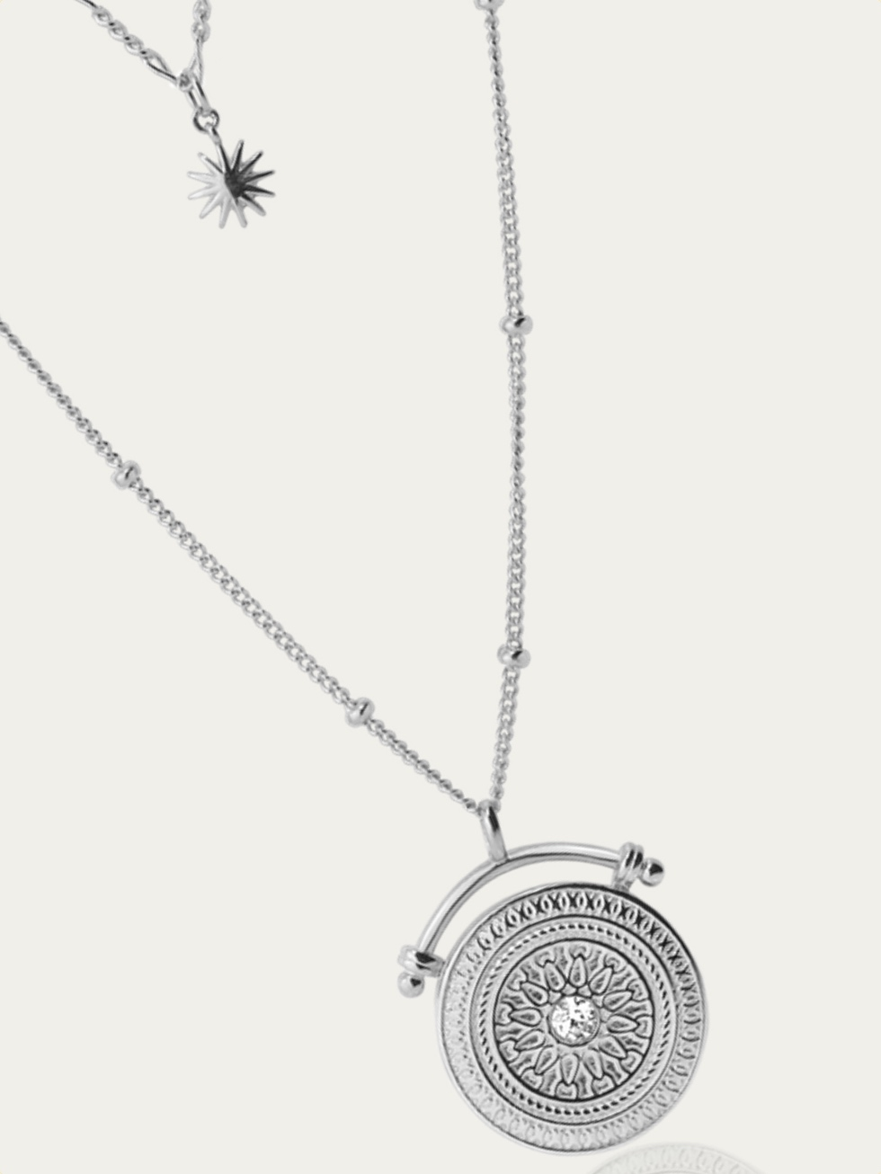 AMULET silver necklace