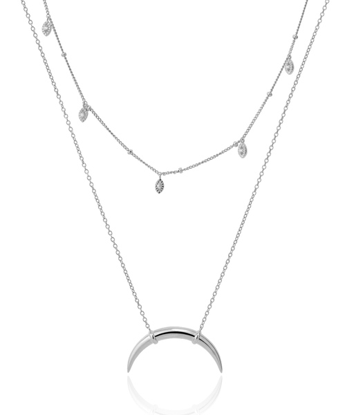 BILLIONS silver necklace