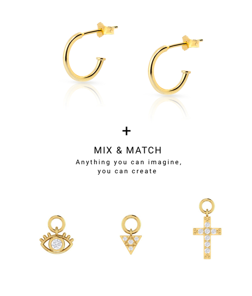 Boucles d'oreilles CHARMS CRUZ or